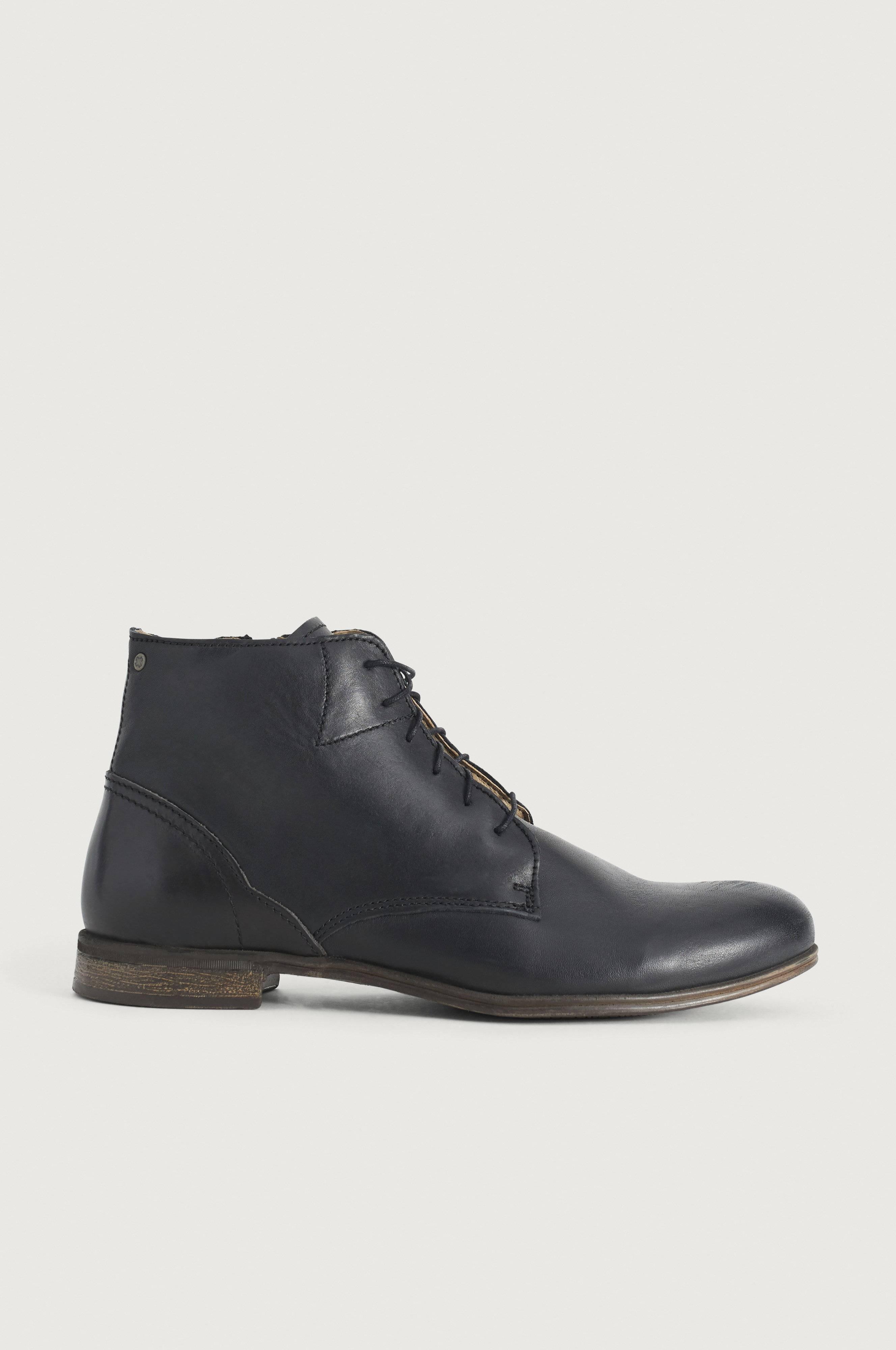 Sneaky Steve Kängor Dirty Mid Leather Shoe Svart