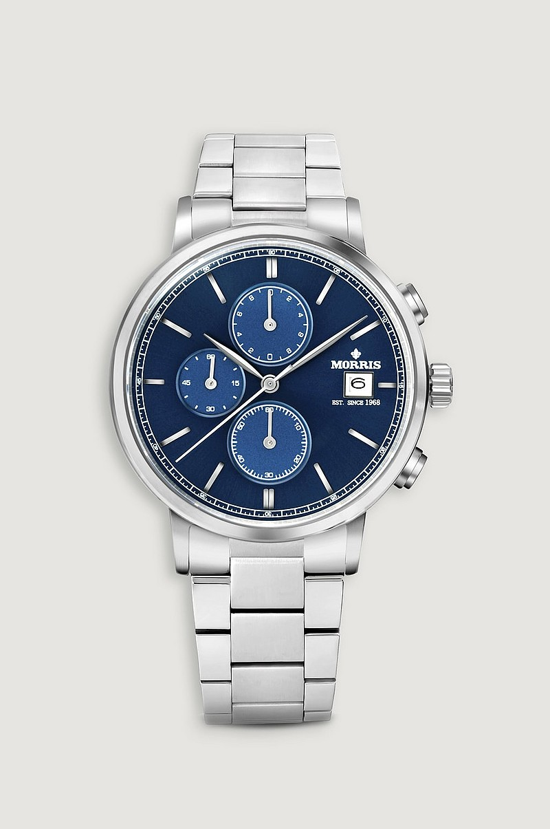 Klokke Paul II Chrono Blue-Metal