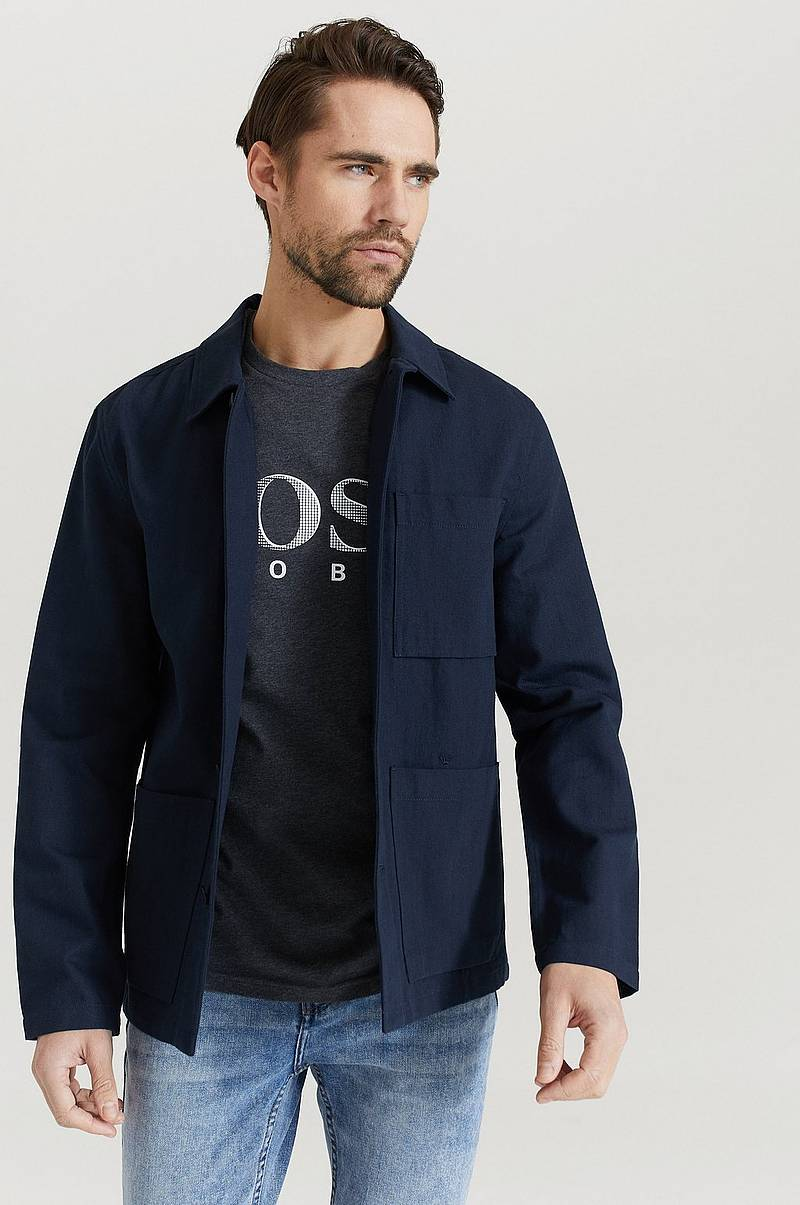 Overshirt Cotton Linen Twill Work Jacket