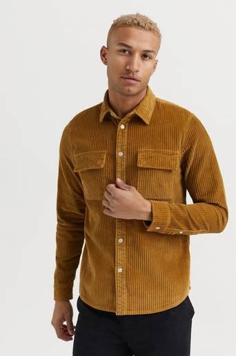 Legends SKJORTA Amalfi Corduroy Shirt Brun
