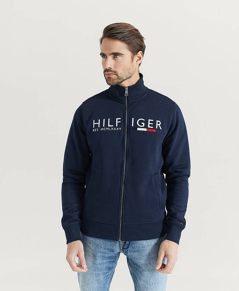Sweatshirt IM Hilfiger Logo Zip Through