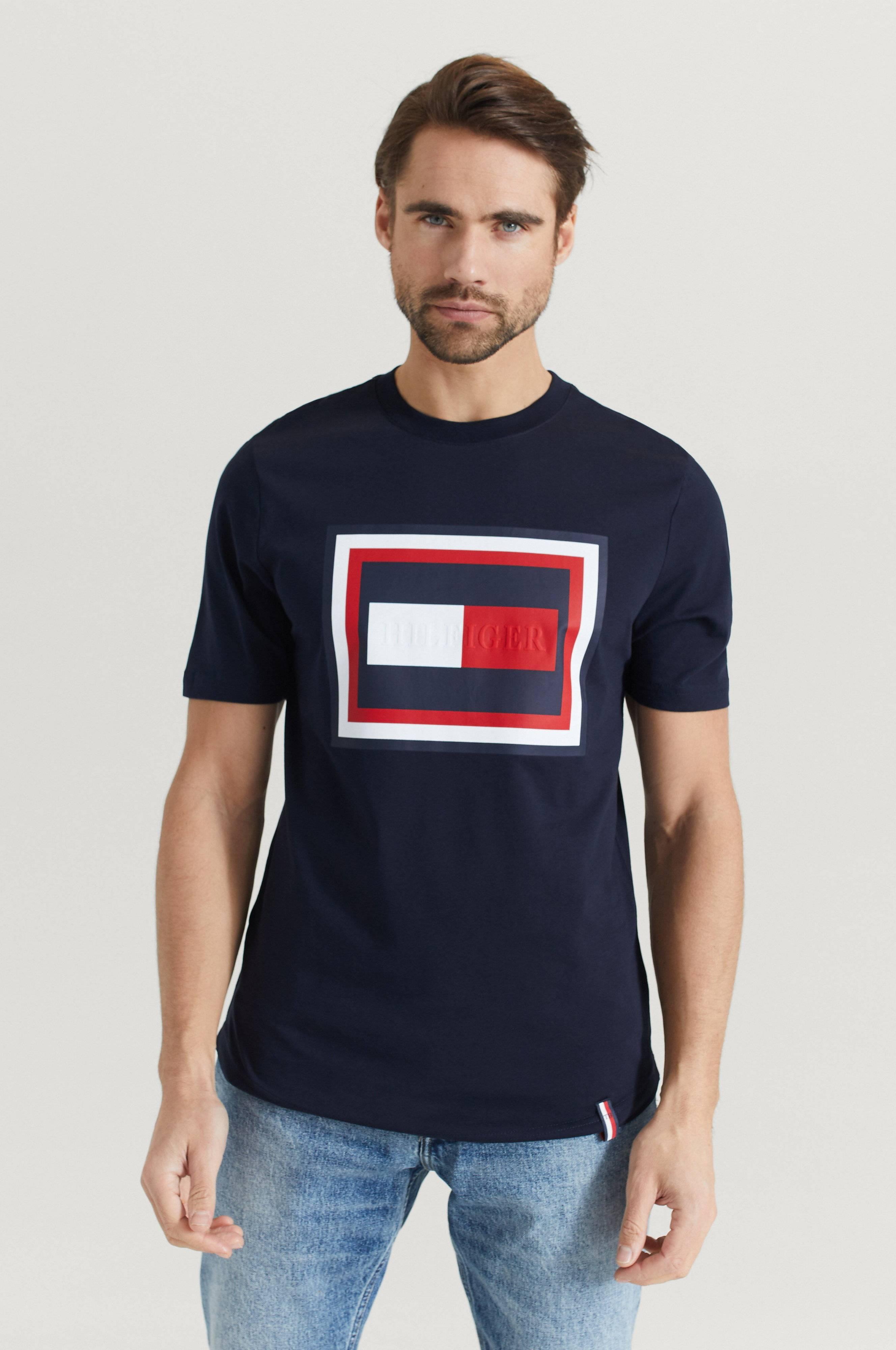 Tommy Hilfiger Hilfiger Frame Relaxed Fit Tee T-shirts & linnen Desert