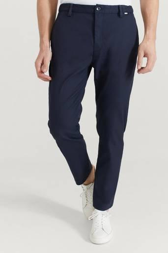 Calvin Klein Byxor Tapered Elastic Twill Pant Blå