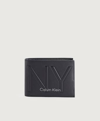 Calvin Klein Plånbok NY Shaped 5CC W/ Coin Svart