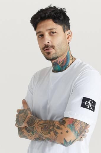 Calvin Klein Jeans T-Shirt Monogram Sleeve Badge Reg Tee Vit