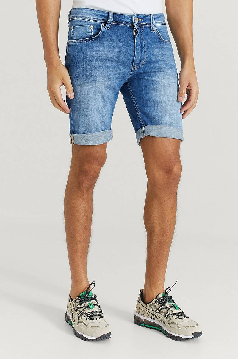 Farkkushortsit Mike Shorts Deepless Blue