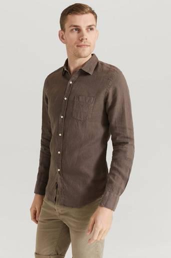 Replay Skjorta RBJ Linnen Shirt Brun