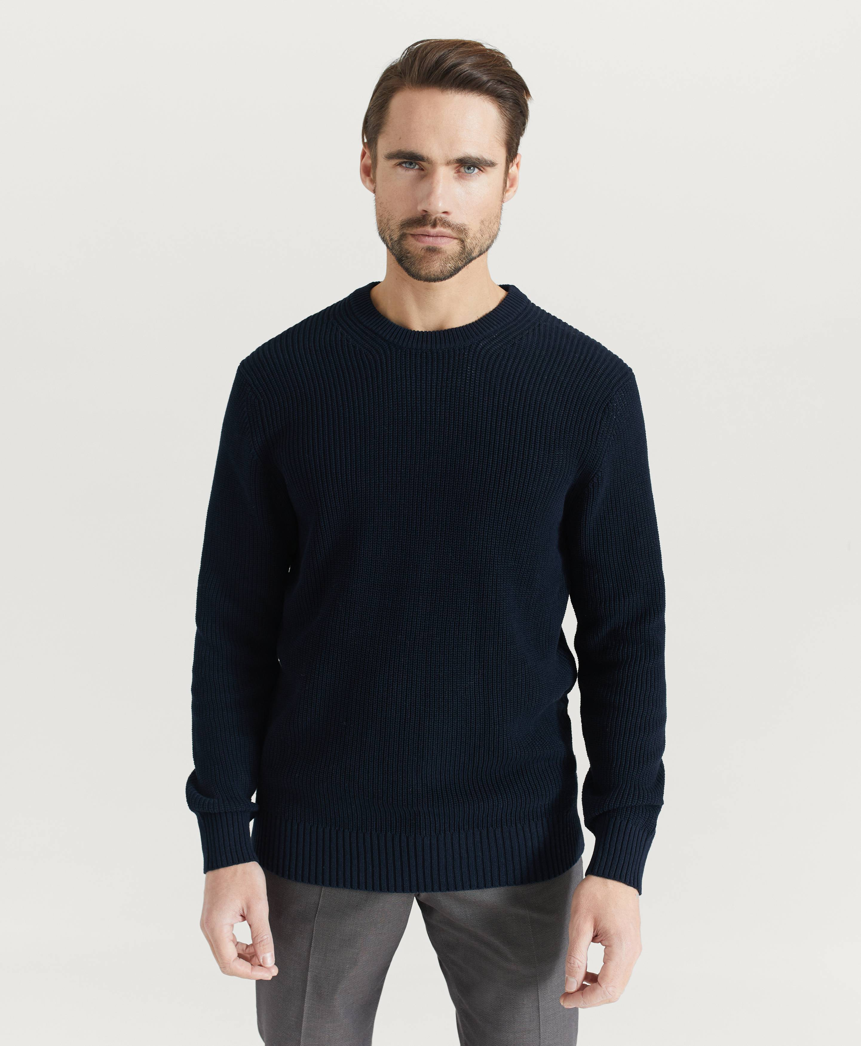 NN07 Stickad tröja Knut 6376 Blå