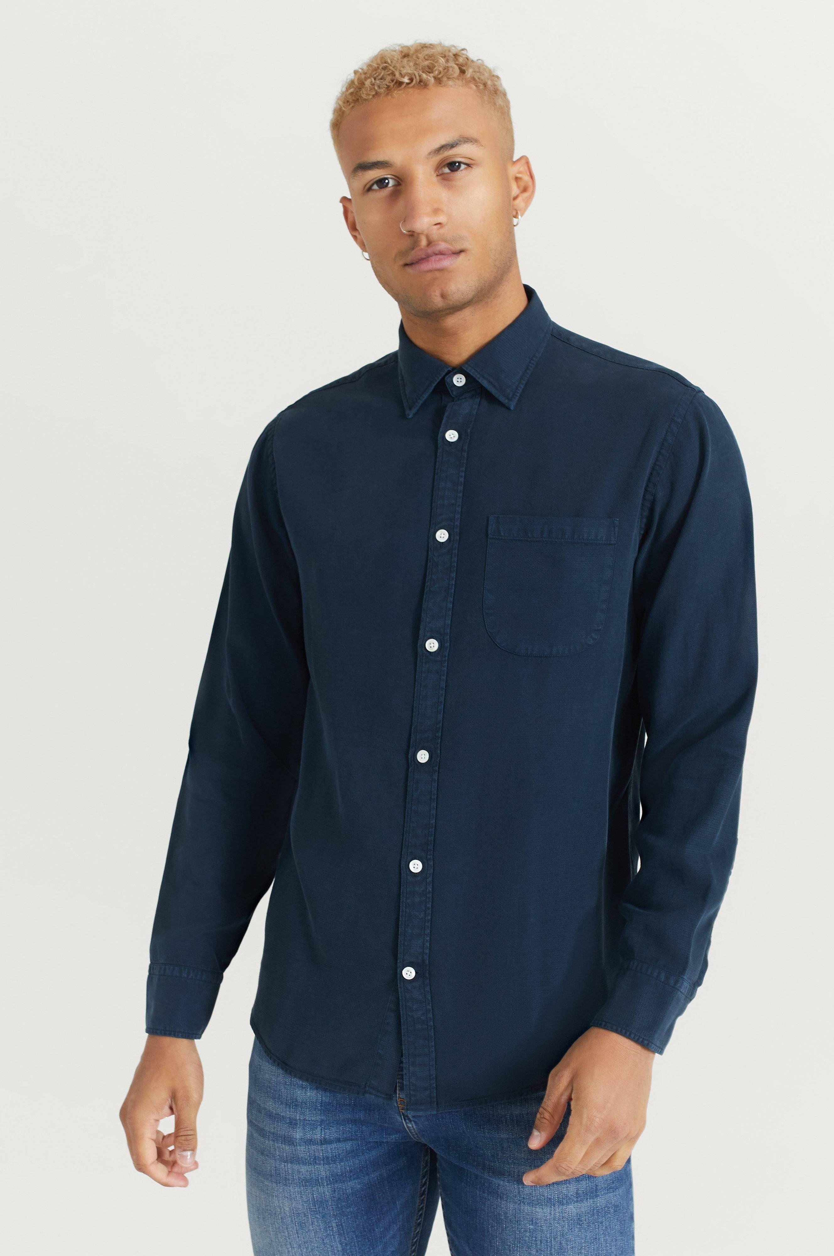 NN07 Skjorta Errico Pocket 5408 Blå