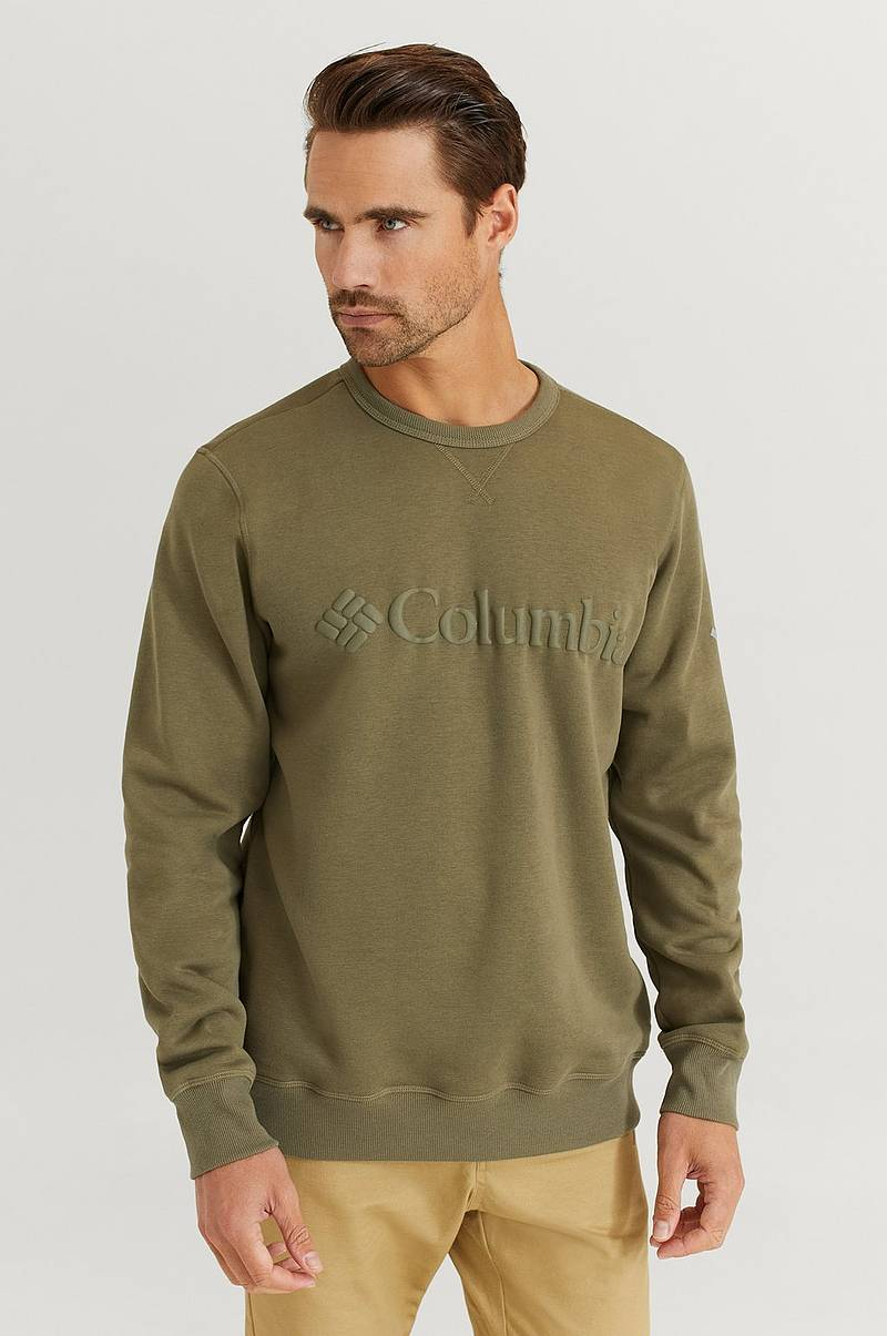 Sweatshirt M Columbia Logo Fleece Crew