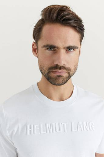 Helmut Lang T-shirt Standard Tee Raise Vit