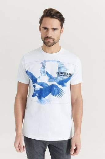Helmut Lang T-shirt Standard Tee Eagle Vit