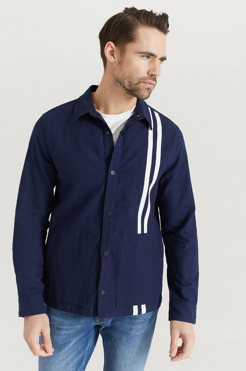 Overshirt Contrast Stripe Outershirt