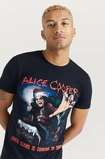 Rock Off T-shirt Alice Cooper Tee Svart