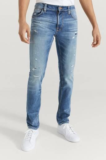 Nudie Jeans Jeans Thin Finn Blå