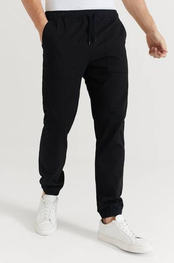 Le Fix Byxor Loose Fit Ripstop Pants Svart