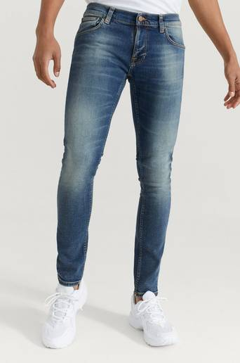 Nudie Jeans Jeans Tight Terry Blå