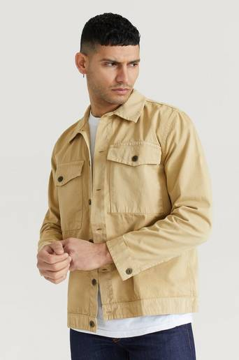 Nudie Jeans Overshirt Colin Utility Overshirt Brun