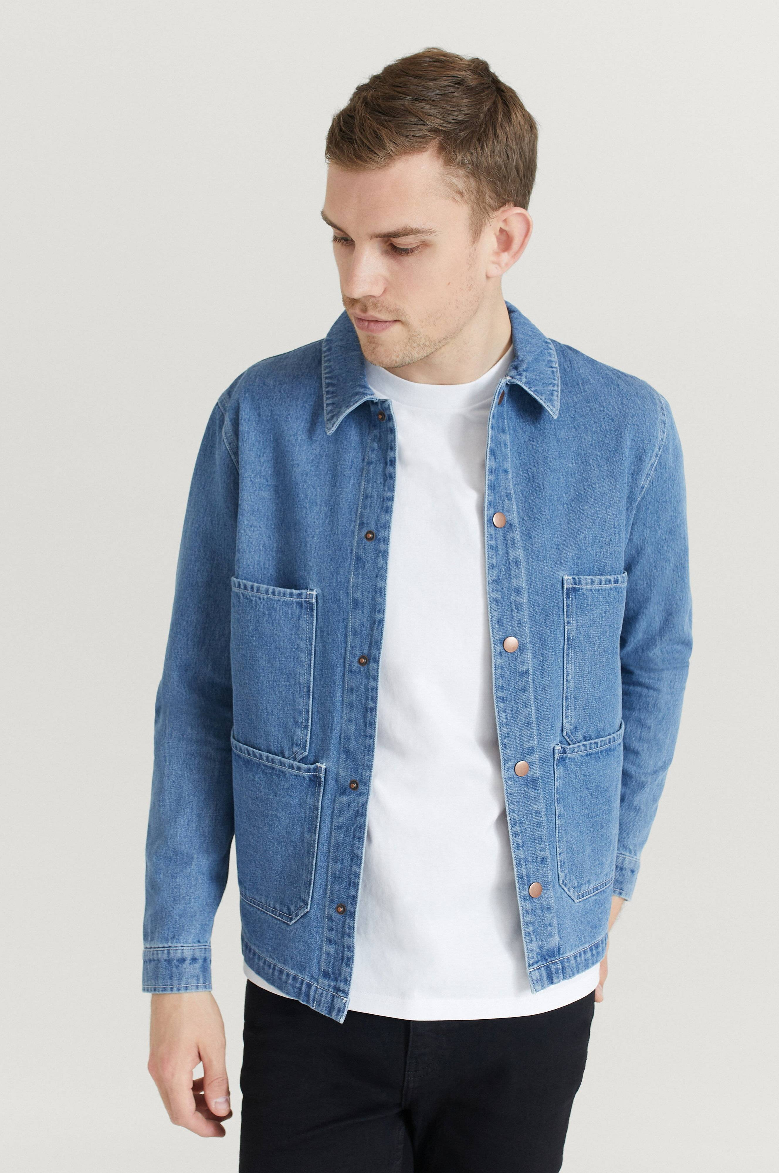 Legends Overshirt Dover Denim Jacket Blå