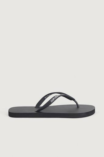 Giorgio Armani Klær Bad og beach Flip flops Male Svart