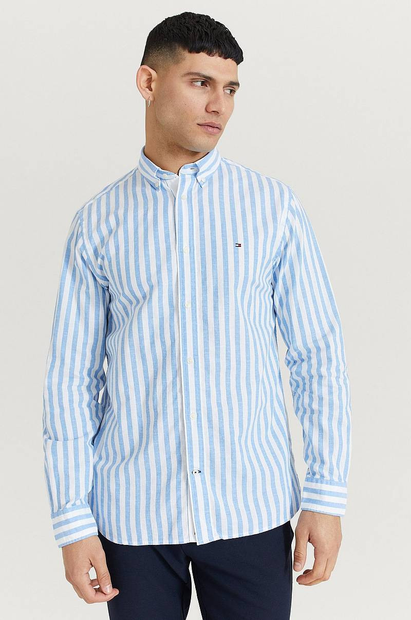 Skjorta Cotton Linen Multi Stripe Shirt
