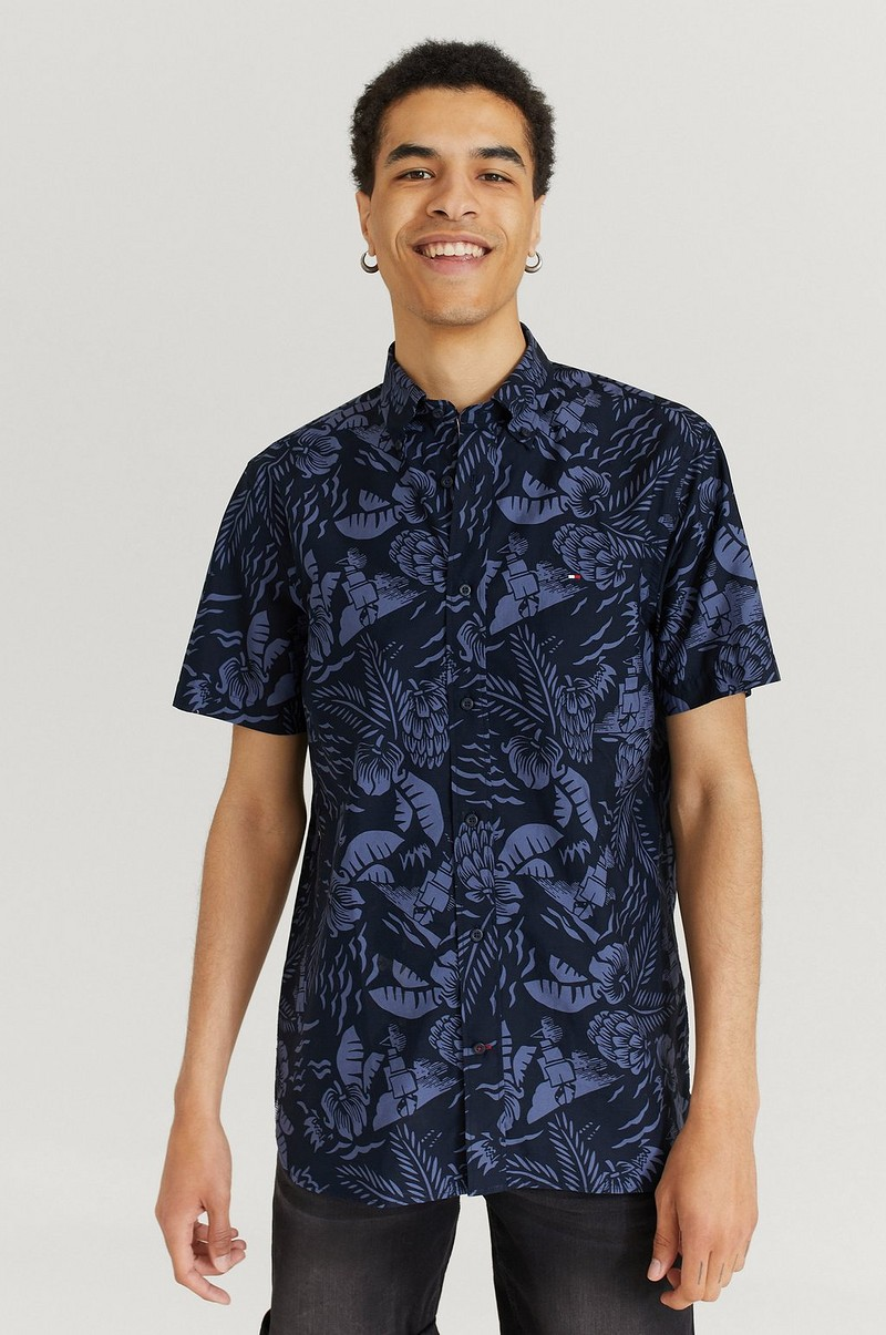 Kortermet skjorte Large Seasonal Print Shirt S/S