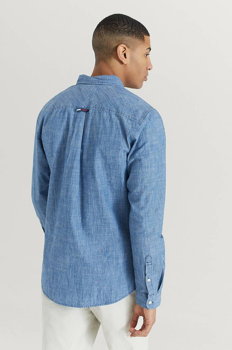 Skjorte TJM Chambray Badge Shirt