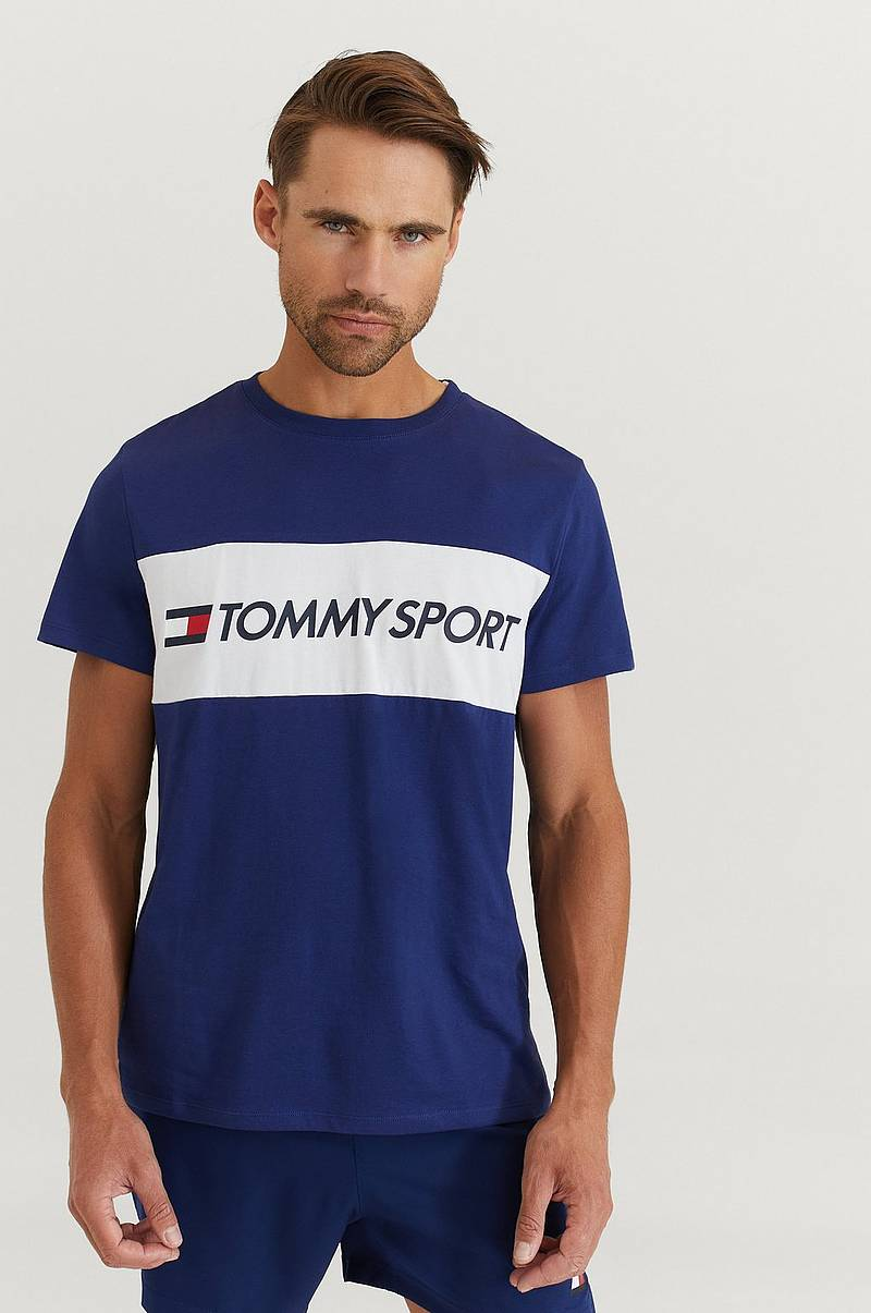 T-shirt Colourblock Logo Top