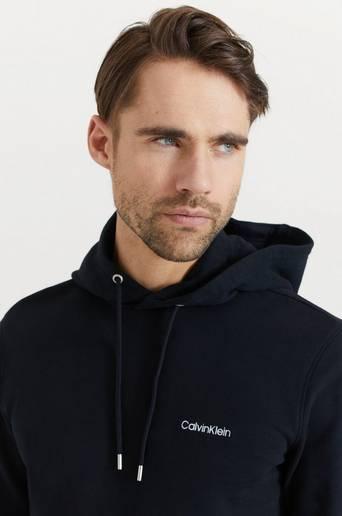 Calvin Klein Hoodie Logo Embroidery Hoodie Svart