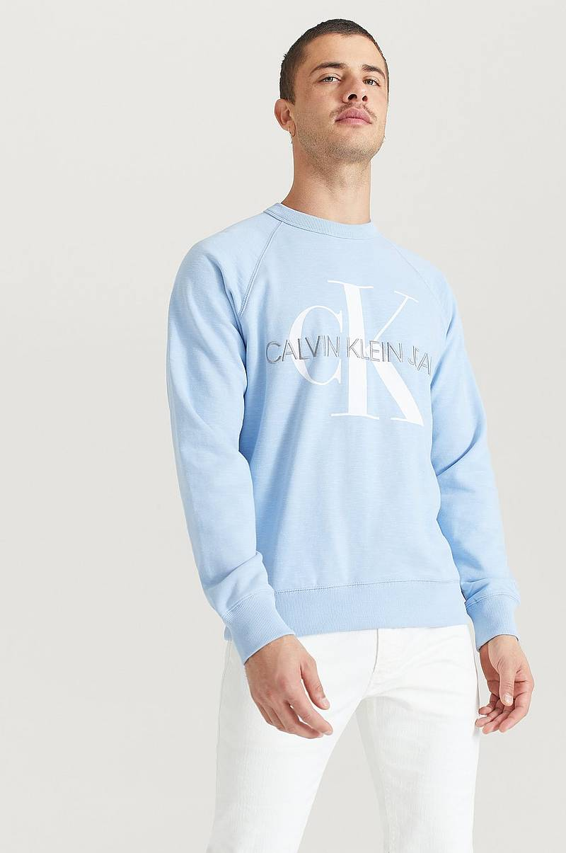 Sweatshirt Vegetable Dye Monogram Crew Neck