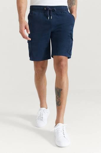 Calvin Klein Jeans Shorts Simple Washed Cargo Short Blå