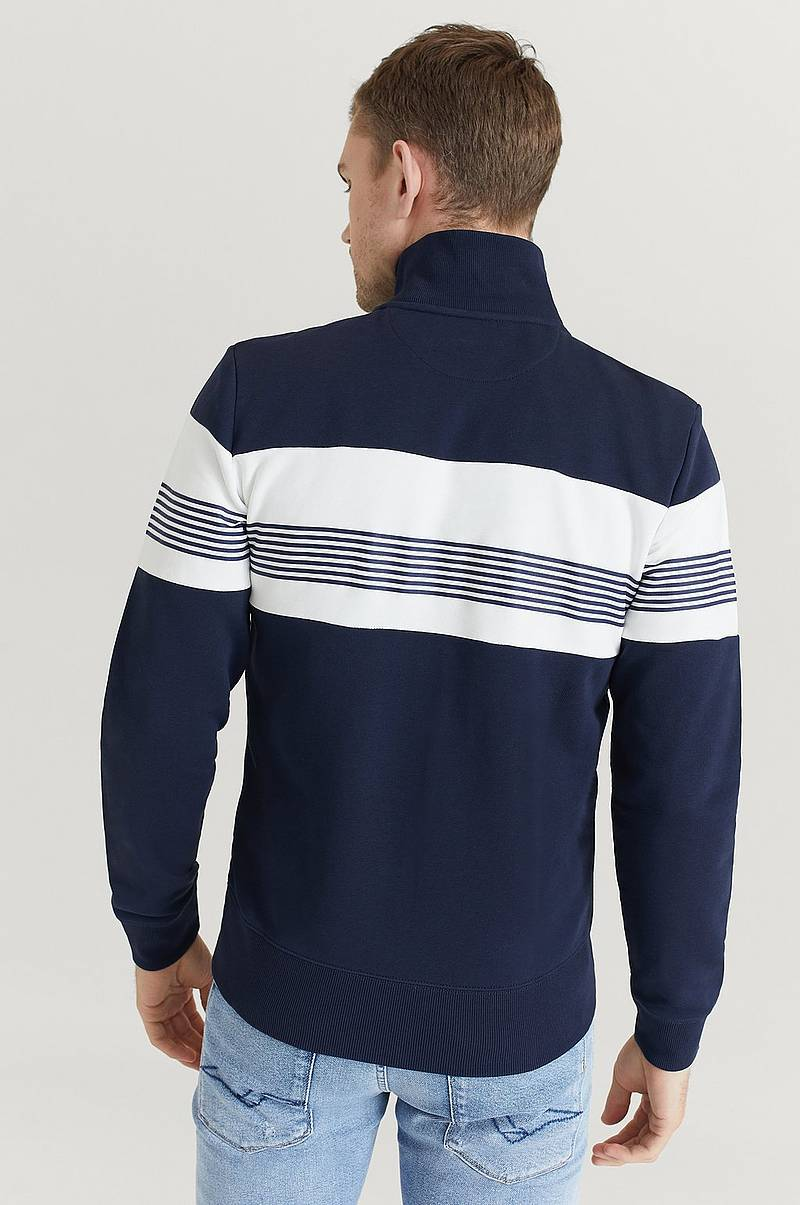 Genser med glidelås Gant Stripe Sweat Zip Through