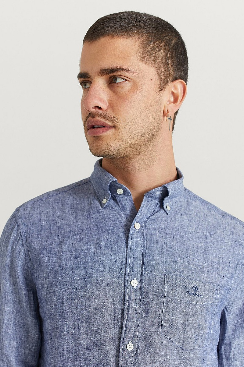 Skjorte The Linen Shirt Reg BD