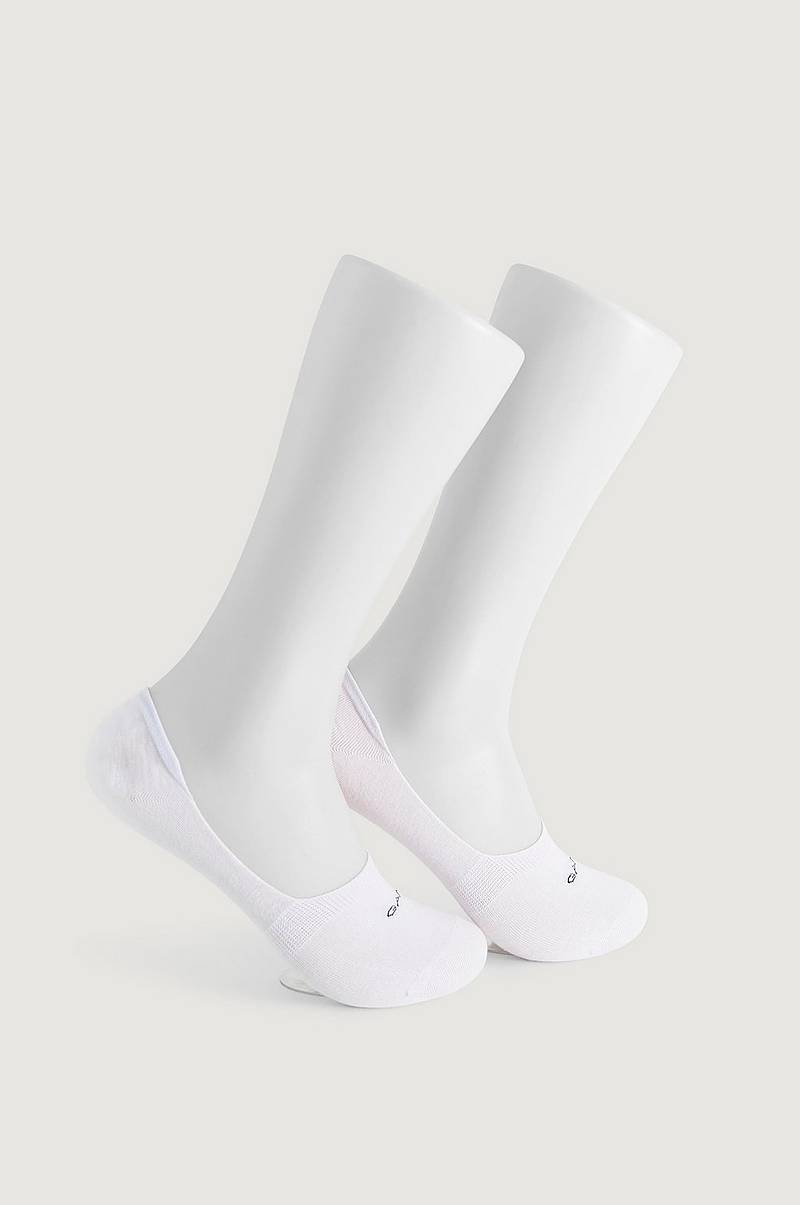 2-Pk Sokker Solid Invisible Socks