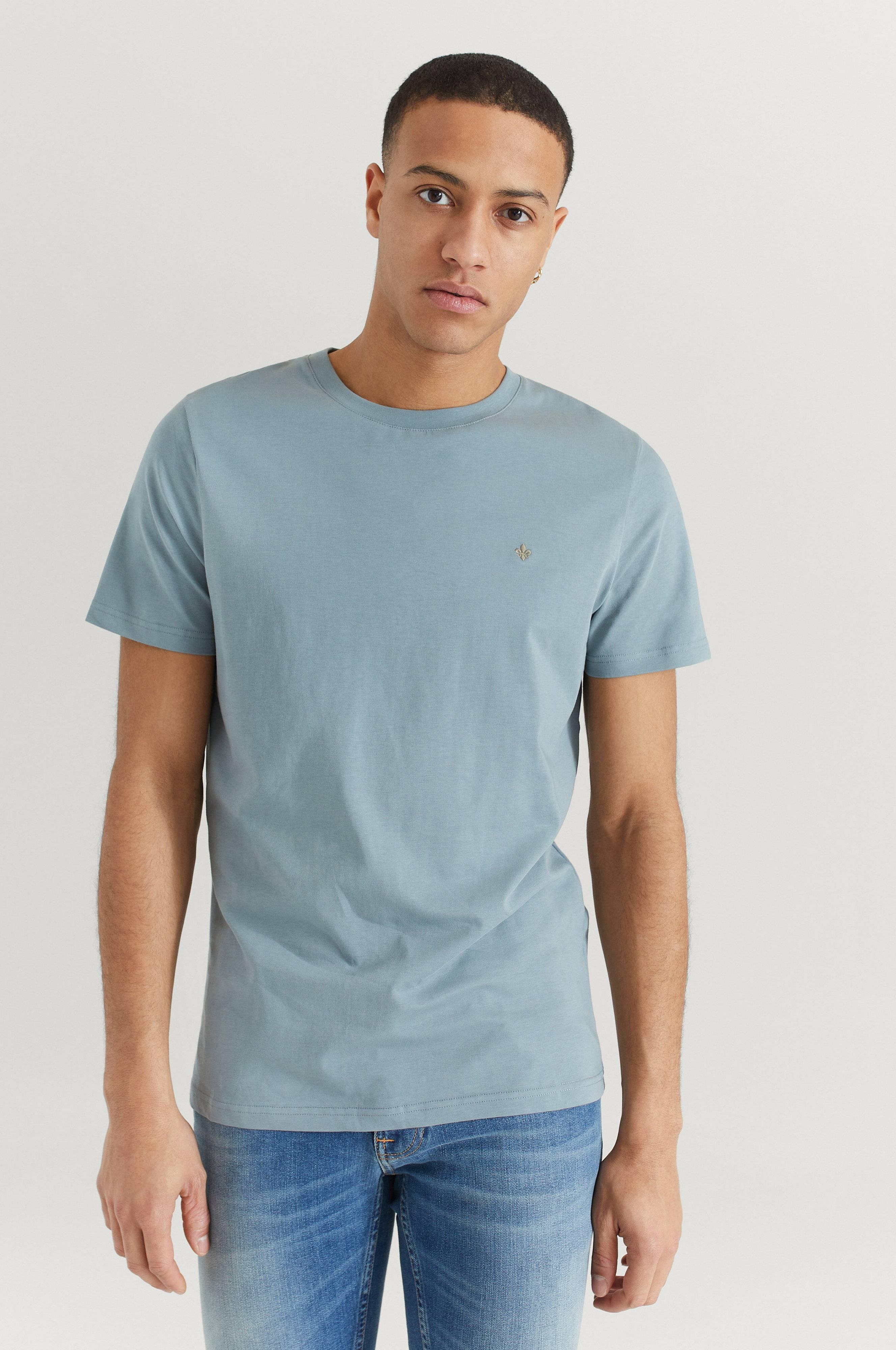 Morris T-Shirt James T-Shirt Blå