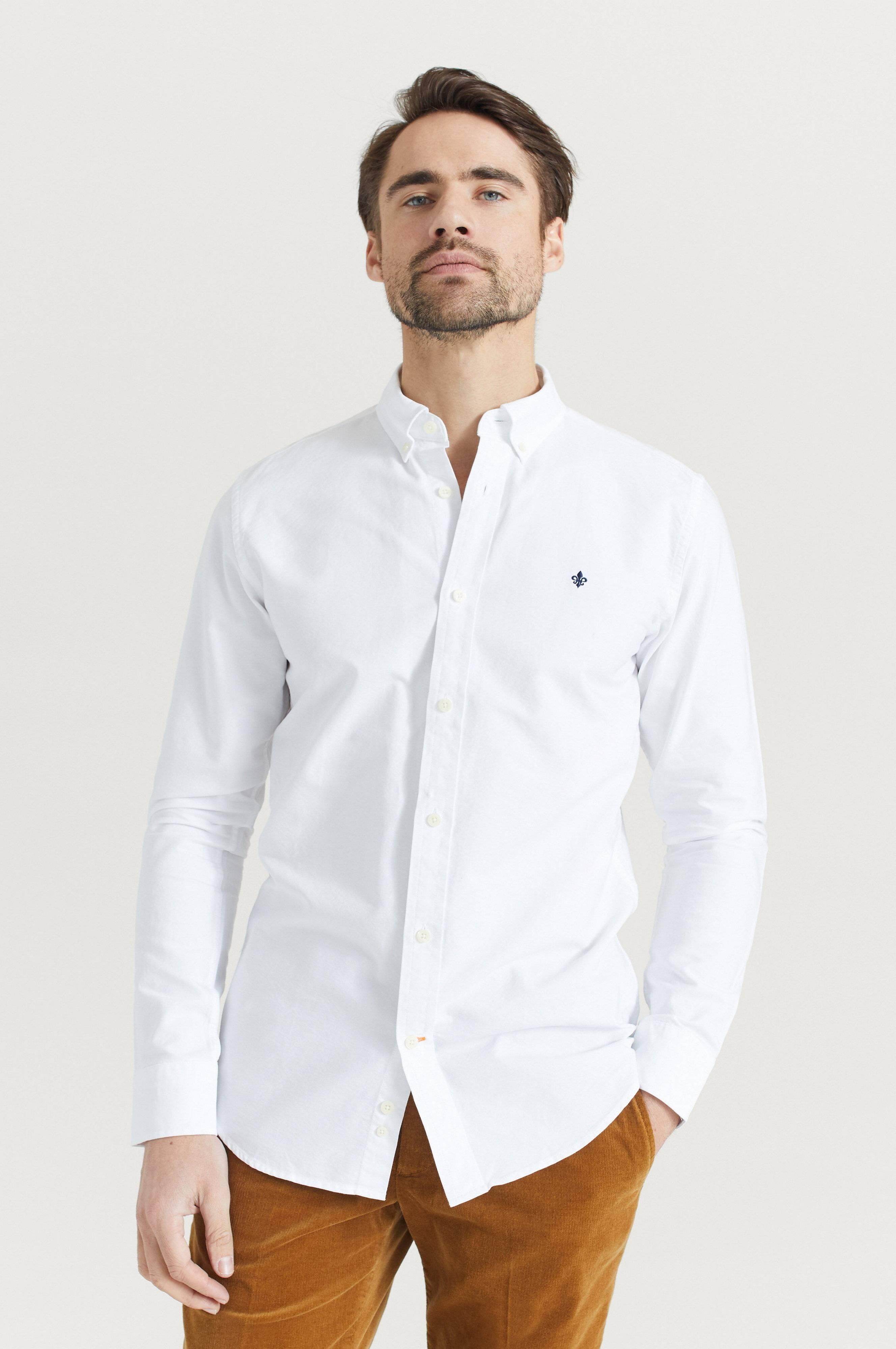 Morris Skjorta Oxford Button Down Vit