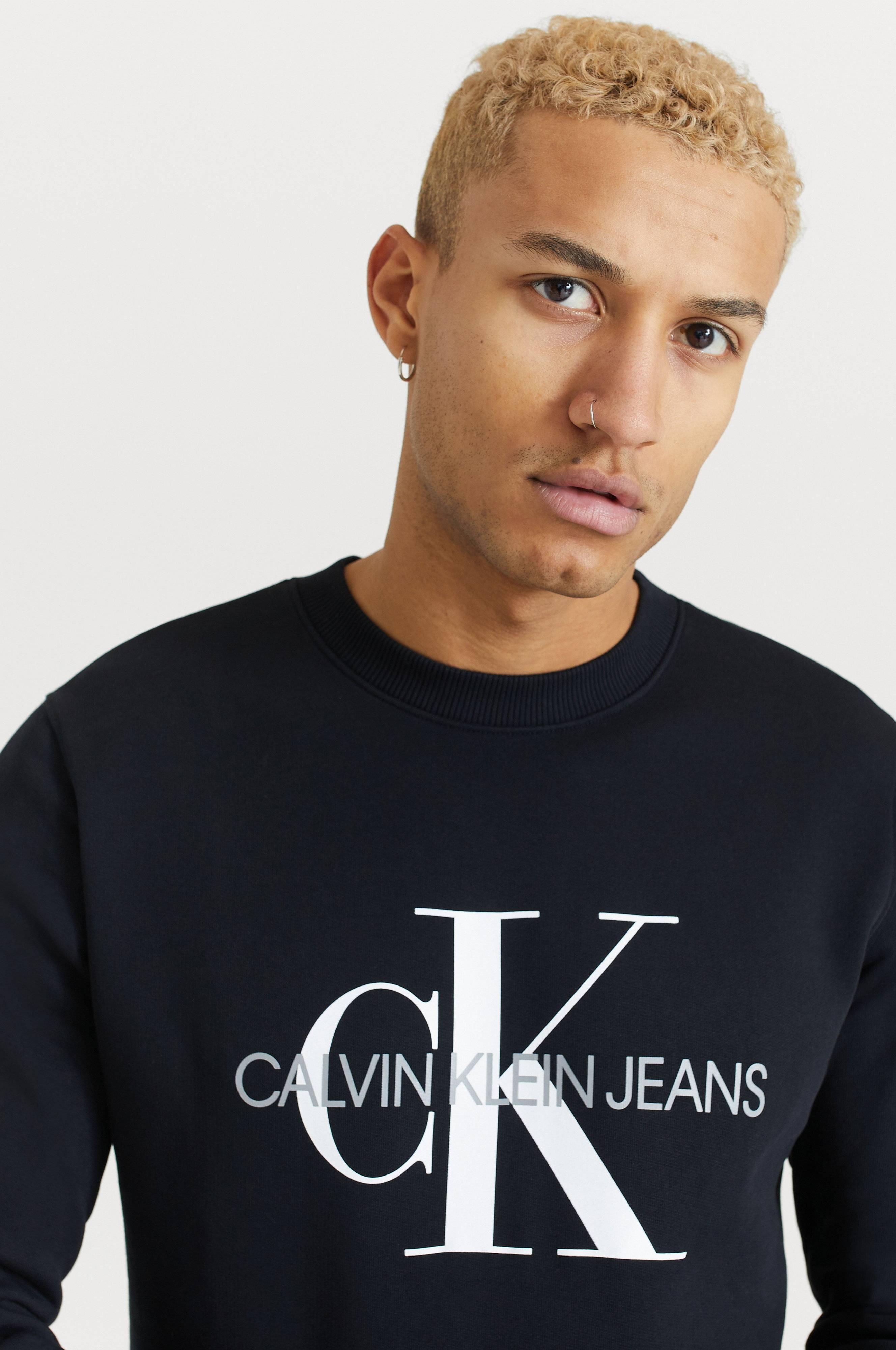 Calvin Klein Jeans Sweatshirt Iconic Monogram Crewneck Svart