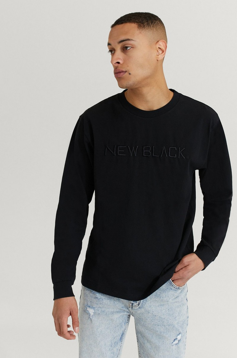 Langermet T-shirt Embroidered Logo L/S Tee