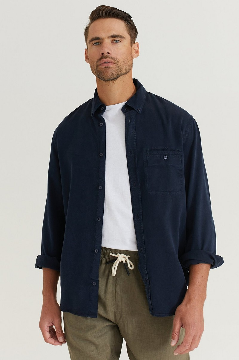 Skjorte Zachary Tencel Shirt