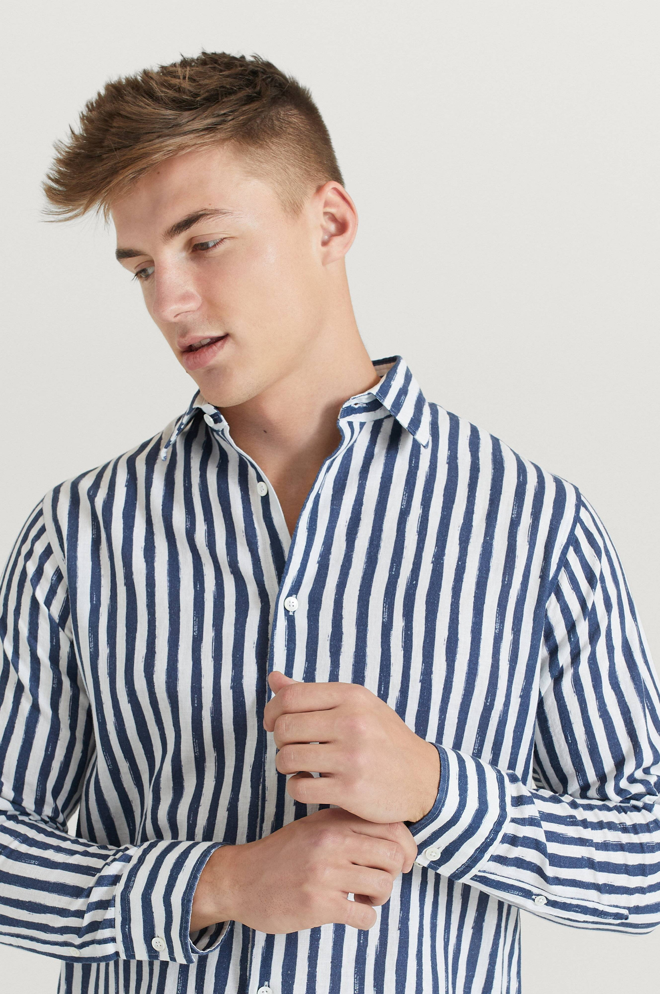 NN07 Skjorta Errico Shirt 5212 Blå