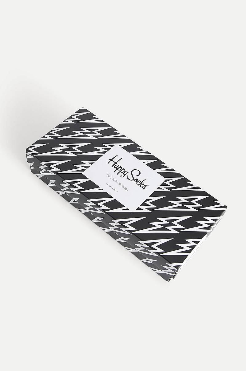 4-Pack Strumpor Black And White Gift Box