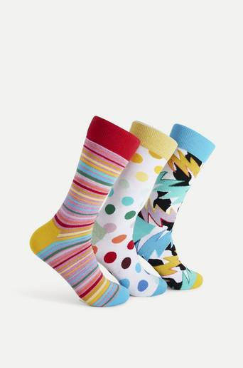 Happy Socks 3-Pack Strumpor Mixed Pride Socks Gift Set Multi