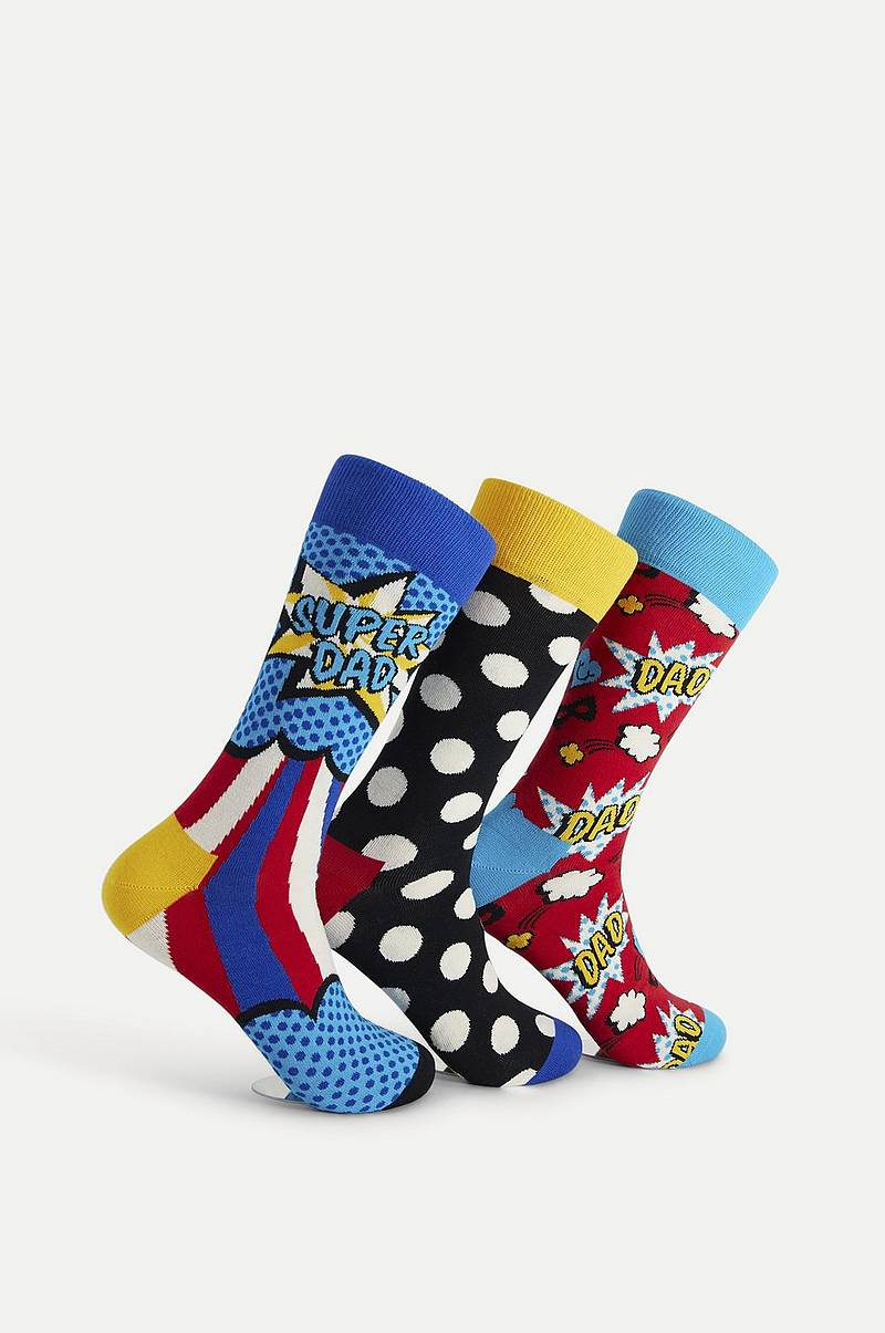 3-Pack Strumpor Father's Day Socks Gift Set