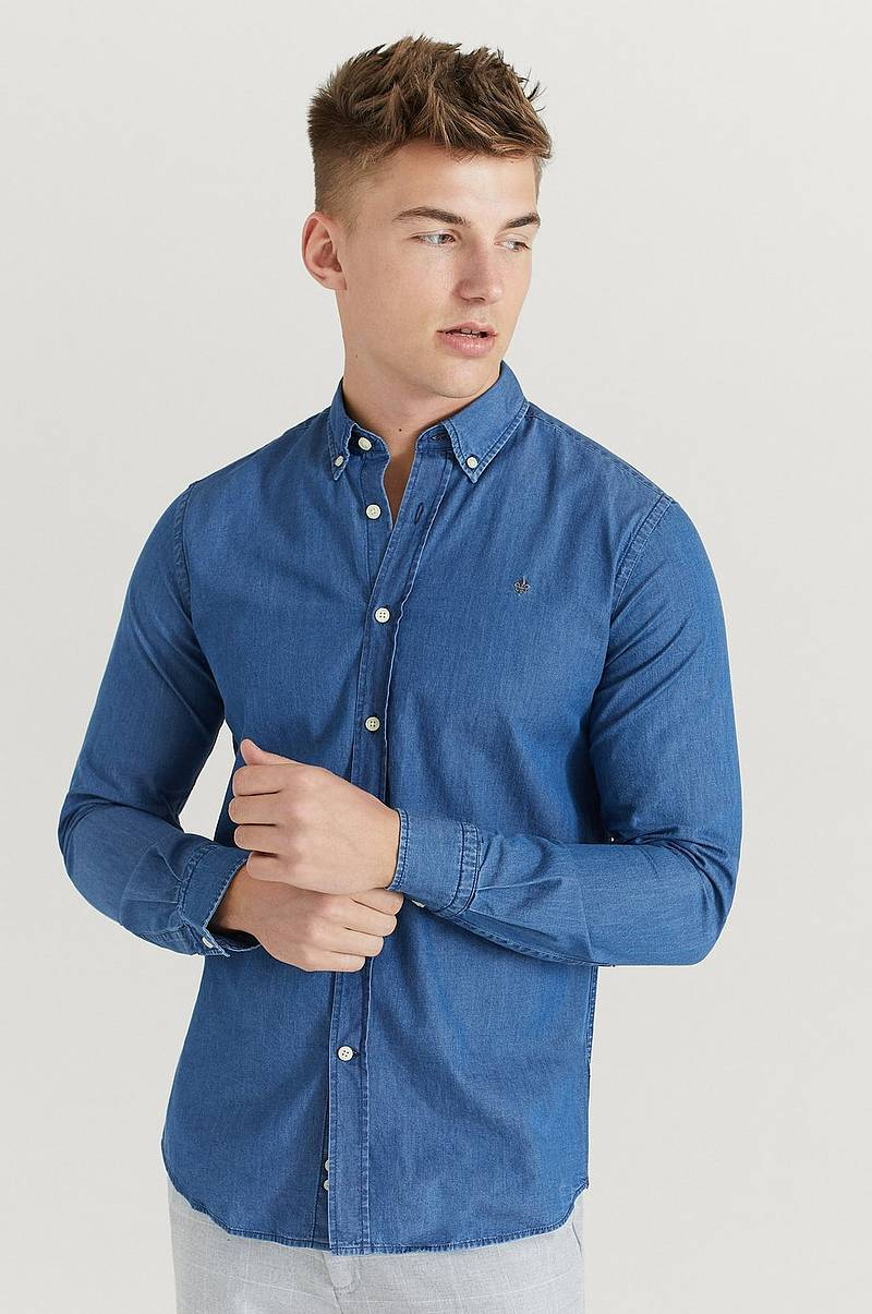 Skjorte Julian Button Down Denim Shirt
