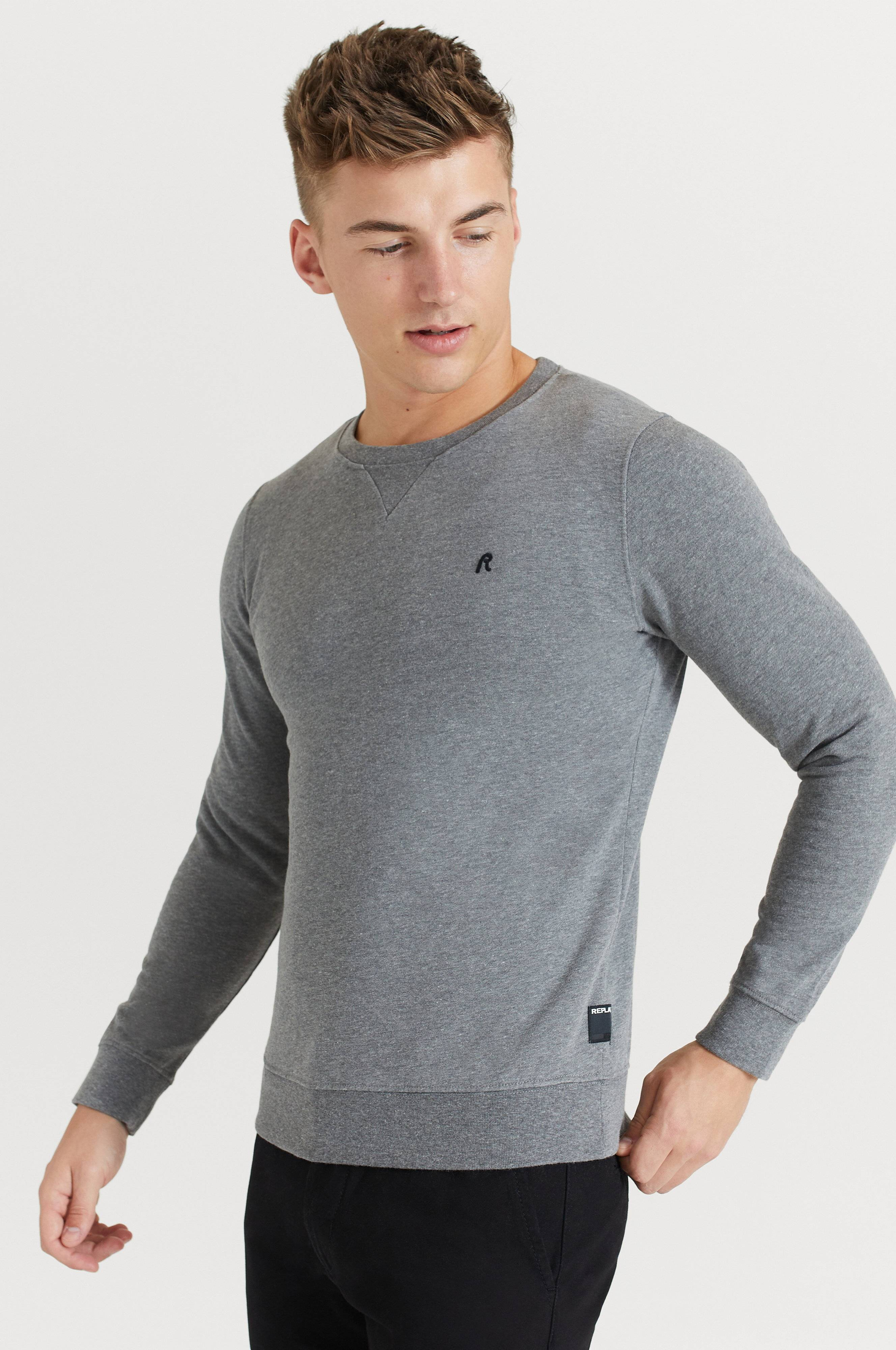 Replay Sweatshirt RBJ CN Sweatshirt Grå