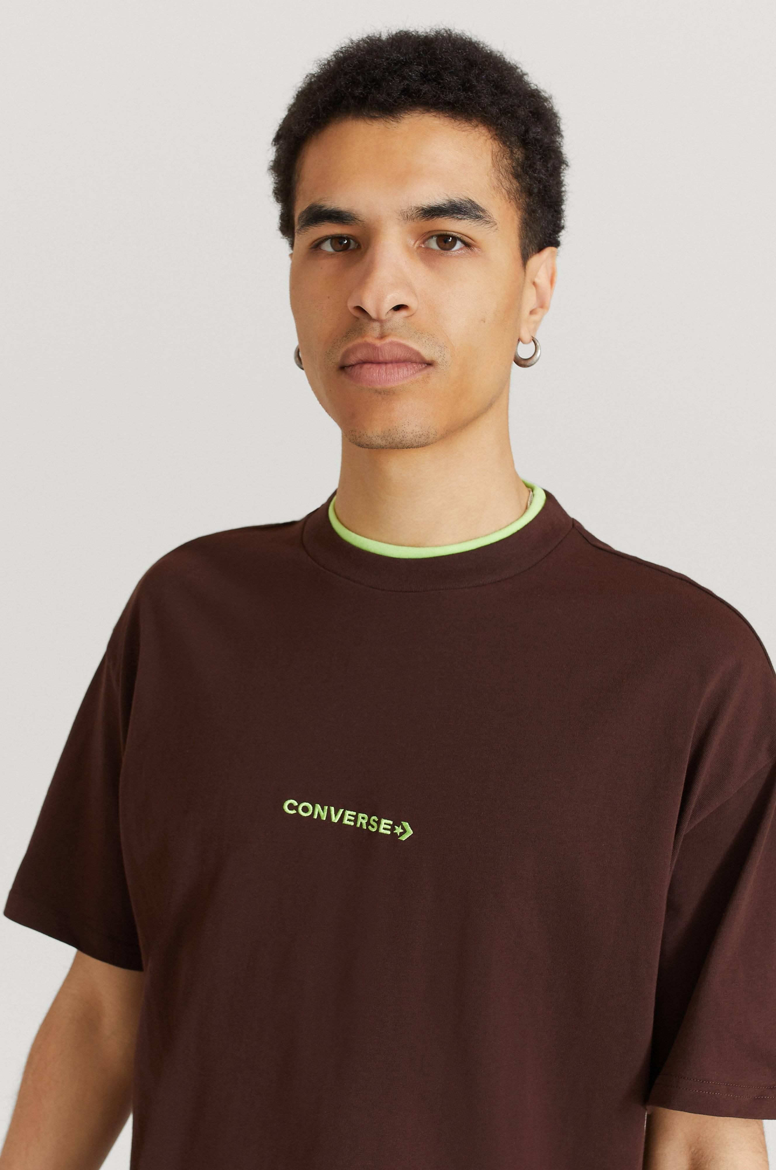 Converse T-Shirt Converse Cut And Sew Tee Brun