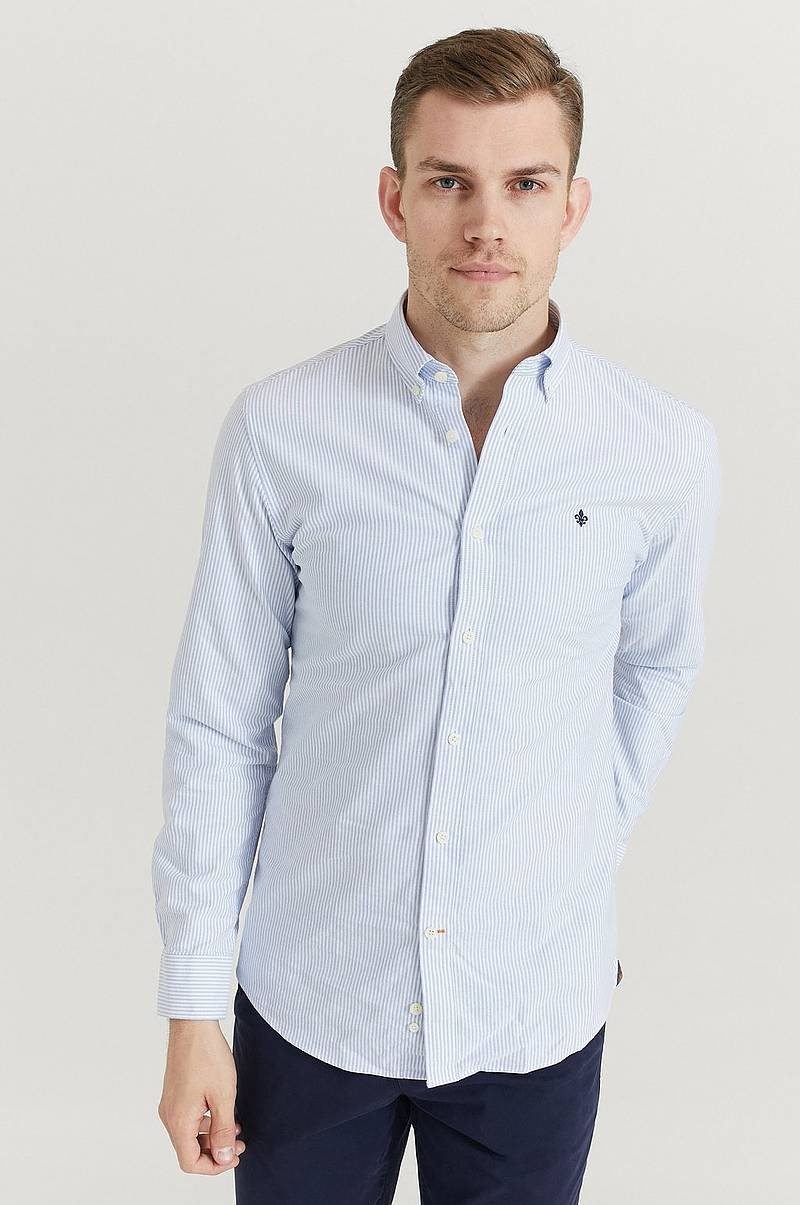 Skjorte Oxford Striped BD Shirt / 55 Light blue / XS