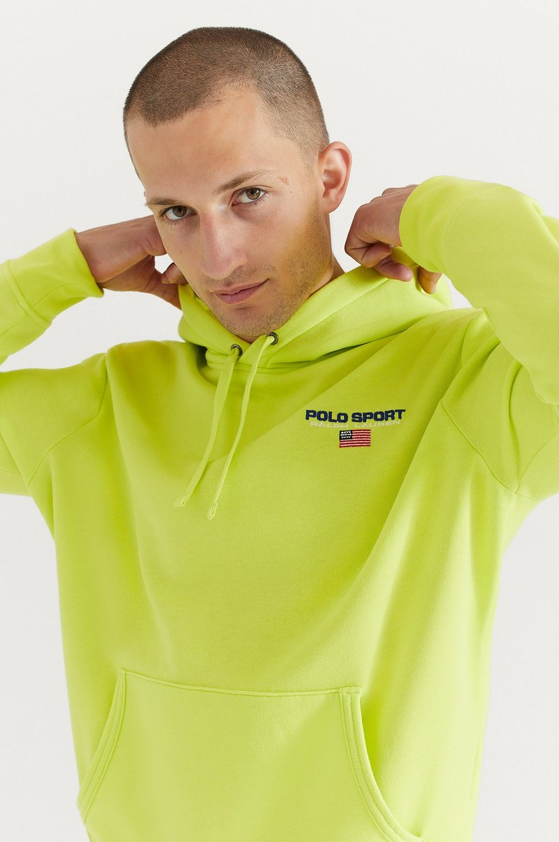 Hoodie Neon Fleece Long Sleeve Knit