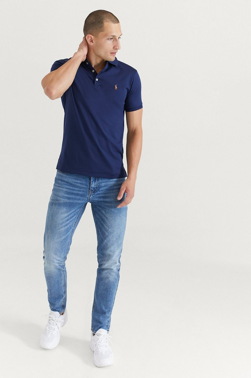 T-Shirt Pima Polo Short Sleeve Knit