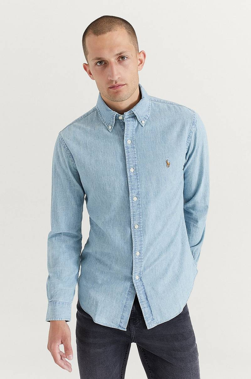 Skjorte Chambray Long Sleeve Shirt